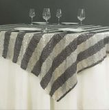 Recubrimiento hermoso del vector del mantel del cequi del paño de vector del cequi de la decoración de la boda