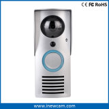 Timbre video sin hilos Wi-Fi con la detección elegante del movimiento, alarma del pisón, visión nocturna infrarroja, audio impermeable, de dos vías