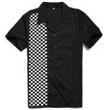 Rockabilly型人のためのアメリカクラブモザイク印刷のワイシャツ