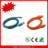 Malla de tejido micro para Samsung Cable USB colores