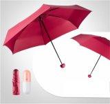 Paraguas abierto del doblez del bolsillo 5 de la talla del manual mini