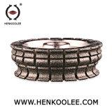 La porcelana de cristal media de la arena #80 embaldosa la muela abrasiva del diamante