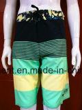 Poliéster do desgaste da praia de 4 Shorts da natação da maneira/algodão Boardshorts do homem