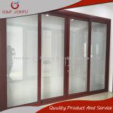 Puerta del panel grande de aluminio de la mirada de madera con el doble esmaltado