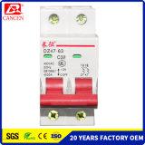Dz47-63 Serien MCB DC/AC, 1-6A 10-32A 40-32A, 6ka/10ka hohe brechende Kapazität, 1p zu 4p, 100V/230V/400V, Cer RoHS SGS ISO9000 ISO14000, Fabrik-Verkäufe verweisen