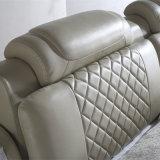 현대 작풍 백색 색깔 가죽 침대 가구 Fb2092