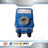 Actuador eléctrico de la aleación de aluminio para la válvula de mariposa
