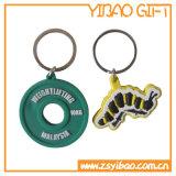 PVC macio Keychain do logotipo feito sob encomenda para presentes relativos à promoção