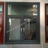 El metal de aluminio Perfil de Casement ventana con doble vidrio