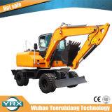 Yrx80-9 excavadora de rueda con un fuerte impulso