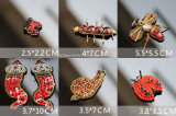 Red Rhinestone Embroidery 3D Patch Sequin Beads Ladybird Clothing Accessories