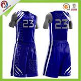 La sublimación de la fábrica china de baloncesto personalizados Jersey ajustado para coincidir con