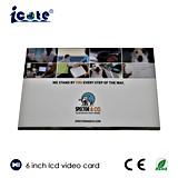Kundenspezifischer Digitaldrucker 6.0 '' LCD-videobroschüre für Product und Company Bekanntmachen