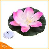 Jardin Piscine flottante fleur de lotus lumière solaire nuit lampe pour la décoration de la fontaine de l'étang des lampes solaires