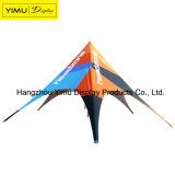 Einzelnes Schicht-und Aluminiumpole-materielles sternförmiges Zelt