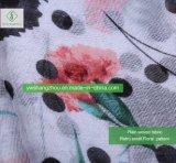 Viskose PUNKT der Form-Dame-Moslem Scarf 100% gedruckter Blumenschal