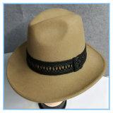 Шлем человека ковбоя войлока шерстей способа 100% с по-разному тесемками