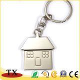 직업적인 제조자 집 모양 열쇠 고리 금속 열쇠 고리