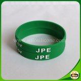 Изготовленный на заказ браслет Wristbands силикона текста логоса с выбито напечатано