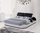 Neues schwarzes Luxuxliegesofa-Bett stellte mit Fächern ein