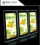 Sinal de cristal de acrílico LED backlit/Estrutura iluminado & Indoor Assinar & Publicidade Caixa de Luz