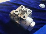 Nouveau type T Port Vanne à boisseau sphérique à 3 voies avec la norme ISO5211 Plaquette de fixation