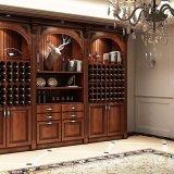 ワインのキャビネットが付いている食堂の家具の食料貯蔵室のキャビネットの食器棚
