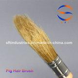 Pennelli puri della setola dei capelli del maiale della maniglia di legno spessa