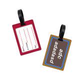 Portabilidade Barato Personalizado tamanho padrão 3D da etiqueta de bagagem em PVC maleável de Borracha