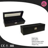 Commerce de gros de luxe en cuir noir de regarder la case en Chine (8715)