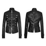 Y-768映画涼しい女性のバイカーの革黒の不足分のジャケット