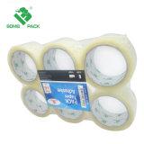 De color claro BOPP Cinta de embalaje de cartón y cinta adhesiva de sellado de BOPP/cinta de sellado de cajas de cartón adhesivo de silicona