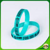 Beste Qualitätskundenspezifisches Silikon-Armband mit geprägtem Drucken-Firmenzeichen