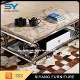 家具のステンレス鋼の大理石のコーヒーテーブル