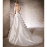 Мантии a 3/4 втулок Bridal - линия платье венчания Lb18713 лифа шнурка сатинировки