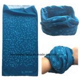 Drukte het Aangepaste Ontwerp van de fabriek Opbrengst de Blauwe Sjaal van de Buis van de Hals van de Polyester af
