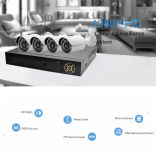 Kit de la cámara del pixel 4CH P2p H. 264 NVR Ahd del precio de fábrica 1.3MP