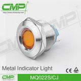 lampadina di segnalazione dell'acciaio inossidabile di 22mm LED, indicatore luminoso di indicatore impermeabile