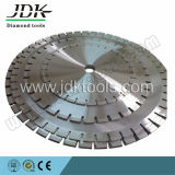 La circular vio las láminas para el corte del mármol del granito