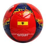 Напечатанный таможней шарик футбола размера 5 тренируя кожаный