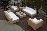 Cubo di vimini del sofà che pranza la mobilia esterna stabilita del patio del rattan