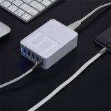 De Lader van Poweriver USB, 5 USB Havens 5V 8A, de Draagbare Adapter van de Macht van de Reis