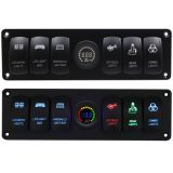 Boat Rocker Switch Panel Voltmeter for Because Waterproof Marine