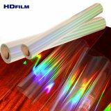 12 Mic Holograma holográfico transparente película película envase metalizado