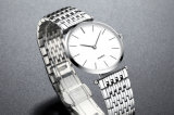 Ultradünner Edelstahl-Kasten-Uhr-Mann oder Frauen-Uhr 72263