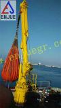палубный судовой кран 3t40m гидровлический выдвигая