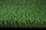 Hierba artificial del césped del jardín del paisaje verde de la decoración