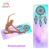 Beau couvre-tapis antidérapage de yoga en caoutchouc normal de Chakra d'arc-en-ciel