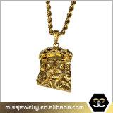 IP de Micro Gouden Jesus Piece Pendant Designs Men Mjhp134 van het Plateren