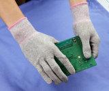 Protection antidérapante de doigts de fonctionnement électronique antistatique de gants d'unité centrale